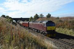 "West Coast Railways Class 47/0, 47245 (37190 ""Dalzell"") Tags: spoon brush redbank duff sulzer class47 type4 newtonlewillows 47245 wcrc d1922 class470 westcoastrailwayscompany maroondip"