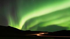The Sky's Awake (blue polaris) Tags: light night volcano iceland long exposure aurora area northern geothermal borealis námafjall namafjall hverir traevl
