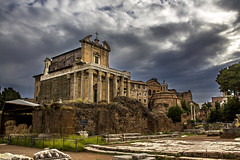 "Temple of Antoninus and Faustina • <a style=""font-size:0.8em;"" href=""http://www.flickr.com/photos/89679026@N00/22065985001/"" target=""_blank"">View on Flickr</a>"