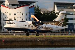 G-ISLF_01 (GH@BHD) Tags: aircraft aviation airliner londoncityairport turboprop atr atr42 lcy propliner blueislands gislf