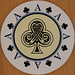 Dalvey Round Playing Card Ace of Clubs