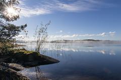 Korpisaari, Nsijrvi (Juho Holmi) Tags: sun mist lake holiday water beautiful weather k fog suomi finland scenery finnland pentax 5 sigma sunny 45 17 28 70 tampere loma k5 jrvi sumu nsijrvi yljrvi 1770mm f2845 pirkanmaa kulju ylinen birkaland mutala