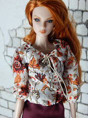 The rose hip dress - Fall 2015 - new clothes (Levitation_inc.) Tags: face fashion modern model doll dolls nu handmade ooak barbie levitation style muse clothes poppy casual eden fr royalty parker mantra 2015 fr2 pivotal nuface