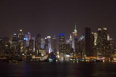 Manhattan nocą   Manhattan at night