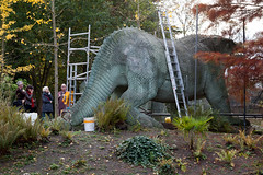 Crystal Palace dinosaur conservation | Crystal Palace Park-1 (Paul Dykes) Tags: uk autumn england fallleaves sun mist london fall fallcolors conservation autumnleaves autumncolours restoration dinosaurs crystalpalace crystalpalacepark 2015 dinosaurcourt