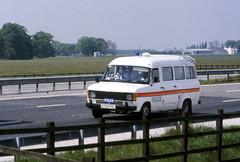 Miners Strike 1984 Police Ford Transit M180 (asdofdsa) Tags: transport 1984 trucks pentaxmesuper convoy fordtransit policeescort minersstrike