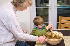 Stir up, O Lord, we beseech thee... Christmas cake time! (photoverulam) Tags: cake ben mum chrismas stirupsunday
