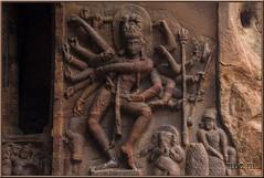 Dios Shiva como Natarash. (Fotocruzm) Tags: india shiva karnataka nataraja badami bharathanatyam hinduismo dancingshiva chalukyas vatapi rupiaindia fotocruzm mcruzmatia natarash