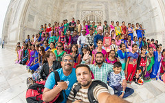 Big wide Selfie (naimatrawan) Tags: girls woman india white love colors beautiful true self photography photo women colorful shoot shot angle indian group wide taj mahal agra fisheye gift marvel incredible selfie marval rawan hindustan naimat