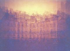 Place du Bouffay, Nantes (nickob) Tags: lomo diana multiexposure redscale microclic