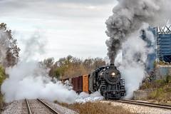 Ready to move (kdmadore) Tags: steamlocomotive steam soo1003 soo train railroad wisconsinsouthern wsor mikado sooline steamengine