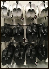Danish clogs on hangers