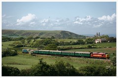 37503 (elr37418) Tags: corfe castle dorset uk england 37503 swanage harmans cross canon 400d ews heritage railway