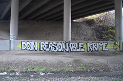 Seattle Area Graffiti   Doin Reasonable Krime (stinkaholic) Tags: graffiti seattle bellevue wa krime paint spray art