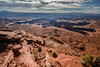 Grand View Point, Canyonlands Natinoal Park, Utah, USA (vonHabsburg) Tags: usa unitedstates amerika america vereinigtestaaten nature natur canyonlands needles theneedles canyonlandsnatinoalpark utah canyon landschaft landscape orange sky clouds himmel wolken moab
