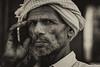 Who is speaking (karmajigme) Tags: portrait man human rajasthan india travel monochrome blackandwhite noiretblanc nikon
