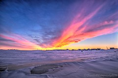 OCT_5646s (savillent) Tags: sunrise sun clouds sky snow ice winter arctic climate environment north landscape photography morning saville francis anderson nikon january 2017 tuktoyaktuk northwest territories canada explore travel