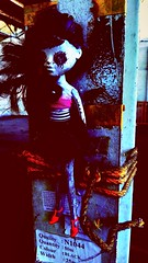 Doll in warehouse (D . Inc 75) Tags: scared terror voodoo unusual phonephotography phone colour concept art abstract evil ransom haunted spooky creepy escape noescape tied tiedup tieddown hostage doll abandoned old warehouse