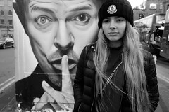 (plot19) Tags: david bowie street art manchester england english uk britain rx100 sony north northwest northern british blackandwhite blackwhite black fashion fasion family girl daughter love teenager portrait photography plot19
