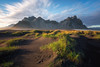 Vestrahorn (Luca Libralato) Tags: iceland islanda vestrahorn stokksnes lucalibralato libralato canoneos6d canon1635 ndfilter gndfilterhard gndfiltersoft haida sunset clouds mountain grass sand beach sea ocean water wow