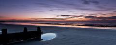 Striplight (Through Bri`s Lens) Tags: sunrisebeachlow lowtidereflection sunup dawn red groyne brianspicer canon5dmk3 canon1635f4 lee09softgrad