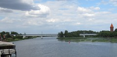 Malbork Old and New (qatsi) Tags: poland malbork marienburg river bridge castle schloss zamek tower