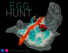 TT R2 Egg Hunt (Drlnd) Tags: lego crystal lava volcano minifig grey blue white crab eggs hunt food