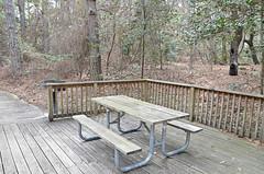 Cabin 9 picnic table grill deck First Landing State Park (vastateparksstaff) Tags: cabin cinderblock 2bedroomcabin