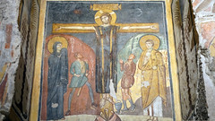 Crucifixion, Theodotus Chapel, c. 741-752, Santa Maria Antiqua, Rome