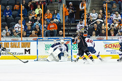 "Missouri Mavericks vs. Tulsa Oilers, March 5, 2017, Silverstein Eye Centers Arena, Independence, Missouri.  Photo: John Howe / Howe Creative Photography • <a style=""font-size:0.8em;"" href=""http://www.flickr.com/photos/134016632@N02/33158627162/"" target=""_blank"">View on Flickr</a>"