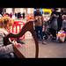 The harpist - Dublin, Ireland - Color street photography