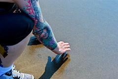 DSC_0278 (jeeeennnnnn) Tags: lake toronto beach water sand shadows tattoos torontoisland lakeontario