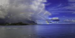 Hanalei Rainbow (mrubenstein01) Tags: ocean hawaii rainbow kauai tropical luxury hanalei stregis hanaleibay stregisprinceville
