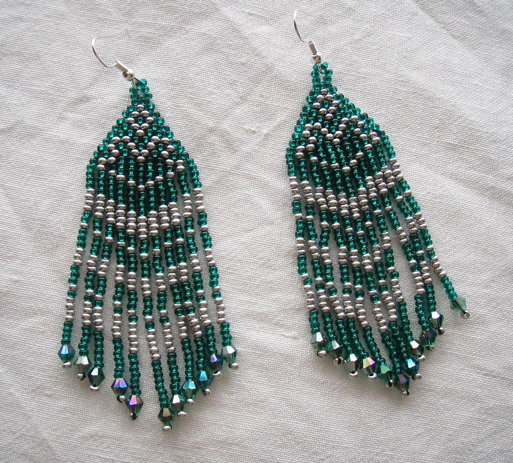 Emerald Earrings (victoria_beads) Tags: Green Beauty Japan Beads Women  Handmade Jewelry Earrings Etsy