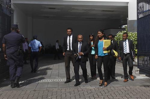President Nasheed's legal team visit to HC, Maafushi Jail & AG office