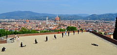 Human exhibition - Fort Belvedere (littlestschnauzer) Tags: city trip summer vacation sculpture tower art florence artwork view rooftops display tourist exhibition hills tuscany historical duomo antony sculptor gormley 2015 giottos