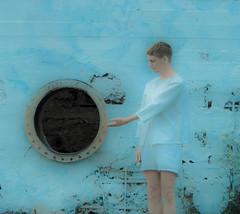 Welcome (Vega Lind) Tags: blue art norway festival canon heaven surrealism performance divine adobe welcome lightroom performanceartist nesodden steilene eos450d eirikmagnusslyngstad