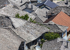 Roofs of Gjirokastra (Hans van der Boom) Tags: from above vacation holiday al looking down roofs tiles slate albania 2015 gjirokastra gjirokastr pregamewinner gjirokastrcounty