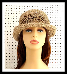 Crochet Hat Womens Hat, Womens Summer Hat Women, Crochet Wide Brim Hat Women, Hemp Cord Hat, Natural Hat, Boho Hat, MONCHERIE (strawberrycouture) Tags: summer hat cord strawberry women natural crochet wide womens chic boho couture hemp brim