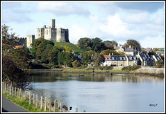 Warkworth Castle and the River Coquet (marj.p. (Catching up!!)) Tags: holiday castle medieval historic northumberland hilltop warkworthcastle tidalriver aonb northeastcoast rivercoquet hilltopfortress ukholiday medievalfortress amblenorthumberland fujifinepixhs50
