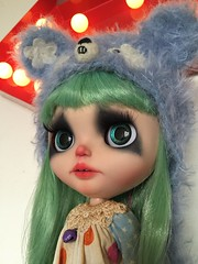 Finished my latest custom: Pip, my sad clown. She wanted to join the circus but I told her she couldn't 😘 #ladidadidolls #blythecustom #customblythe #Blythe