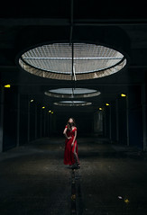 Yinsey (Jason Arber) Tags: light red woman female dark asian dress chinese tunnel