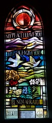 New Window (IanAWood) Tags: buckinghamshire stainedglass churchyard coleshill cofe churchwindows amersham churchofengland thechilterns chapelco allsaintschruch d810 buckinghamshirechurches contemporarystainedglass nikonfx walkingwithmynikon nikkorafs1635mmf4gvr coleshillallsaintschurch