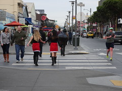 Santa Claus convention in town (francesca.clemente) Tags: sanfrancisco xmas food bay rainbow chinatown surf baker tram crab goldengatebridge taco electronics wharf goldengate coittower santaclaus fishermans fishermanswharf alcatraz hook bakerbeach burrito cablecars foodtruck