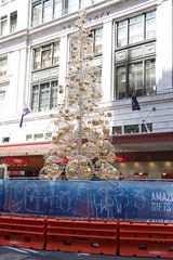 Christmas tree on the road (Val in Sydney) Tags: christmas street tree george sydney australia nsw australie