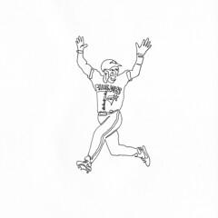 SOLD   a single line drawing of Joe Carter (Chad Coombs) Tags: party get art tattoo illustration ink paper naked nude lets chad flash fine joe line jordan ali kobe single topless etc carter bryant yadda micheal pantless muhammad michealjordan coombs yada oneliner kobebryant oneline unsceneart joecarter cchadcoombs asingleline muhammaali
