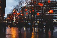 A City of Ghost (marq4porsche) Tags: san francisco california united states rain weather night evening street light lights streetlights city urban color people shopping downtown sidewalk walking lantern lanterns bokeh canon ef 50mm 12 l eos 6d