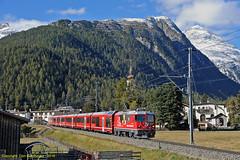 Engadin Alvra (Don Gatehouse) Tags: switzerland suisse schweiz svizzera eisenbahnen graubünden rhätischebahn rhb metregauge classge44'' 629 alvra agz albulavalley engadinvalleyregioexpress re1334 bever stmoritz landquart