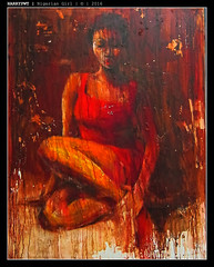 nigerian girl in red (harrypwt) Tags: harrypwt canons95 s95 painting art nike nikegallery city red