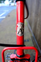 Ahearne head badge (Ahearne Cycles) Tags: pinion gearbox 18speed custom bike commuterbike touringbike customrack